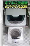 お一人様用? 小さくてカワイイ 全自動洗濯機